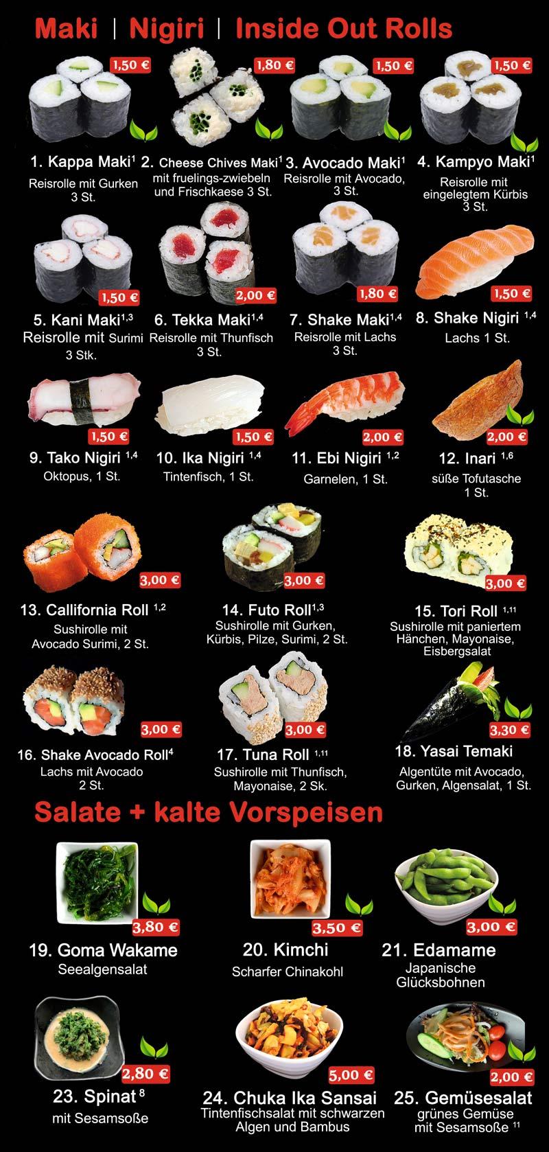 Speisekarte - Ichi Asia Restaurant